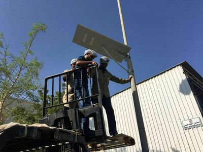 Solar Street Light Project  - In Middle East
