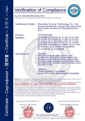LED Flood Lights - CE Certificate
